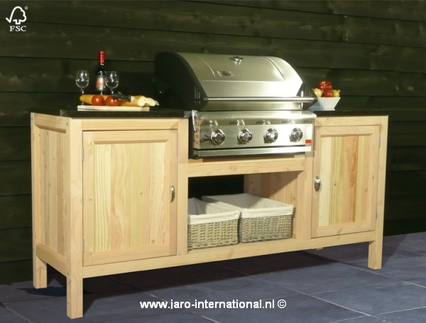 Houten Buiten Keuken : Buitenkeukens trendhout buitenkeuken chef