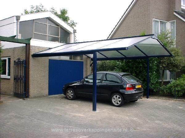 Terrasoverkapping - Carports aluminium met zadeldak